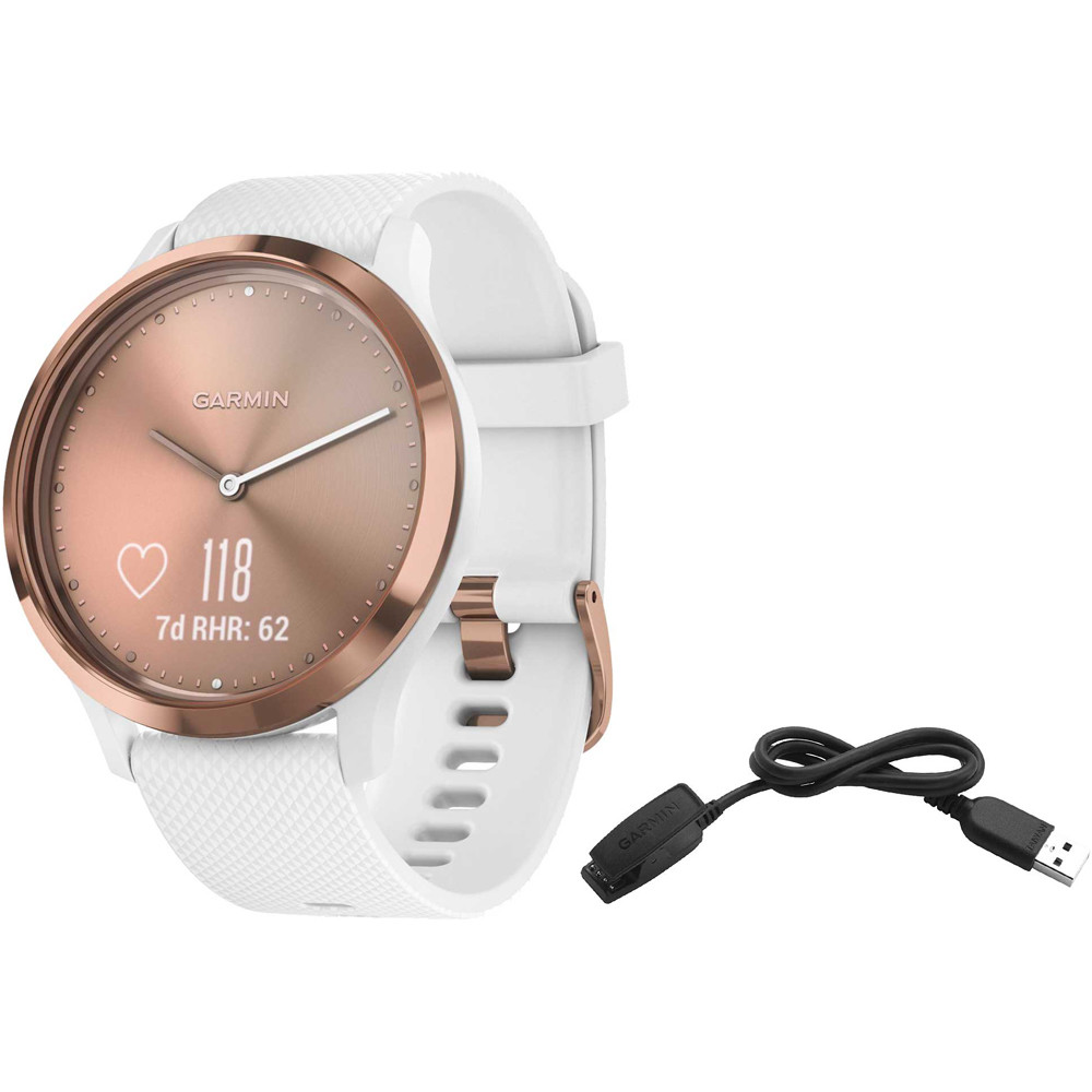 Smartwatch vivomove hr sport rose gold blanca sm
