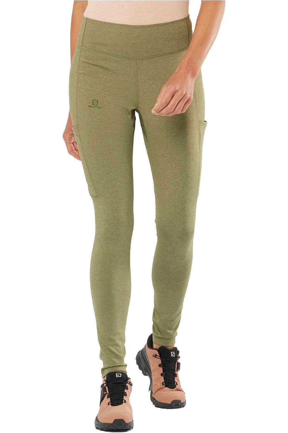 Mallas trail running largas mujer outline tights w